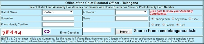 Ceo Telangana Voters List