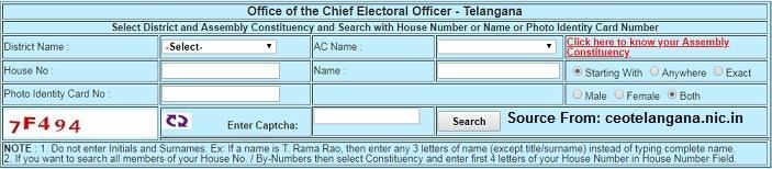 Ceo Telangana Voters List