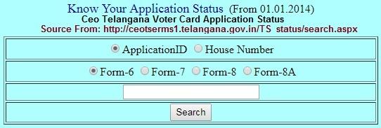 Telangana Voter Card Status